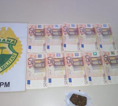 Jovem é preso em Apucarana  com 500 euros falsos