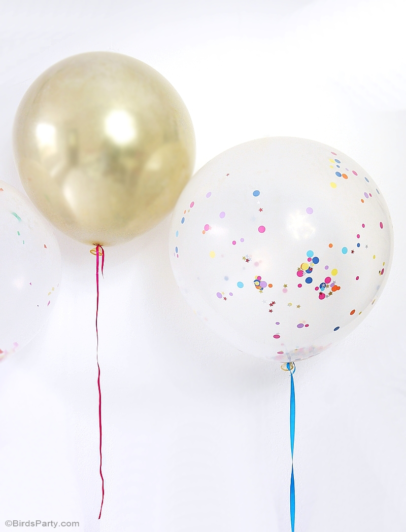3 Quick & Easy DIY Balloon Party Hacks - perfect for birthday, weddings and celebrations | BirdsParty.com @birdsparty