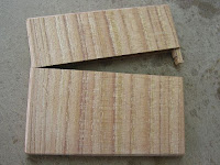 栴檀横長木製財布