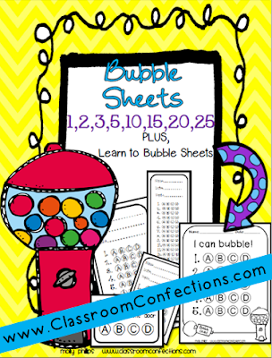 printable bubble sheets
