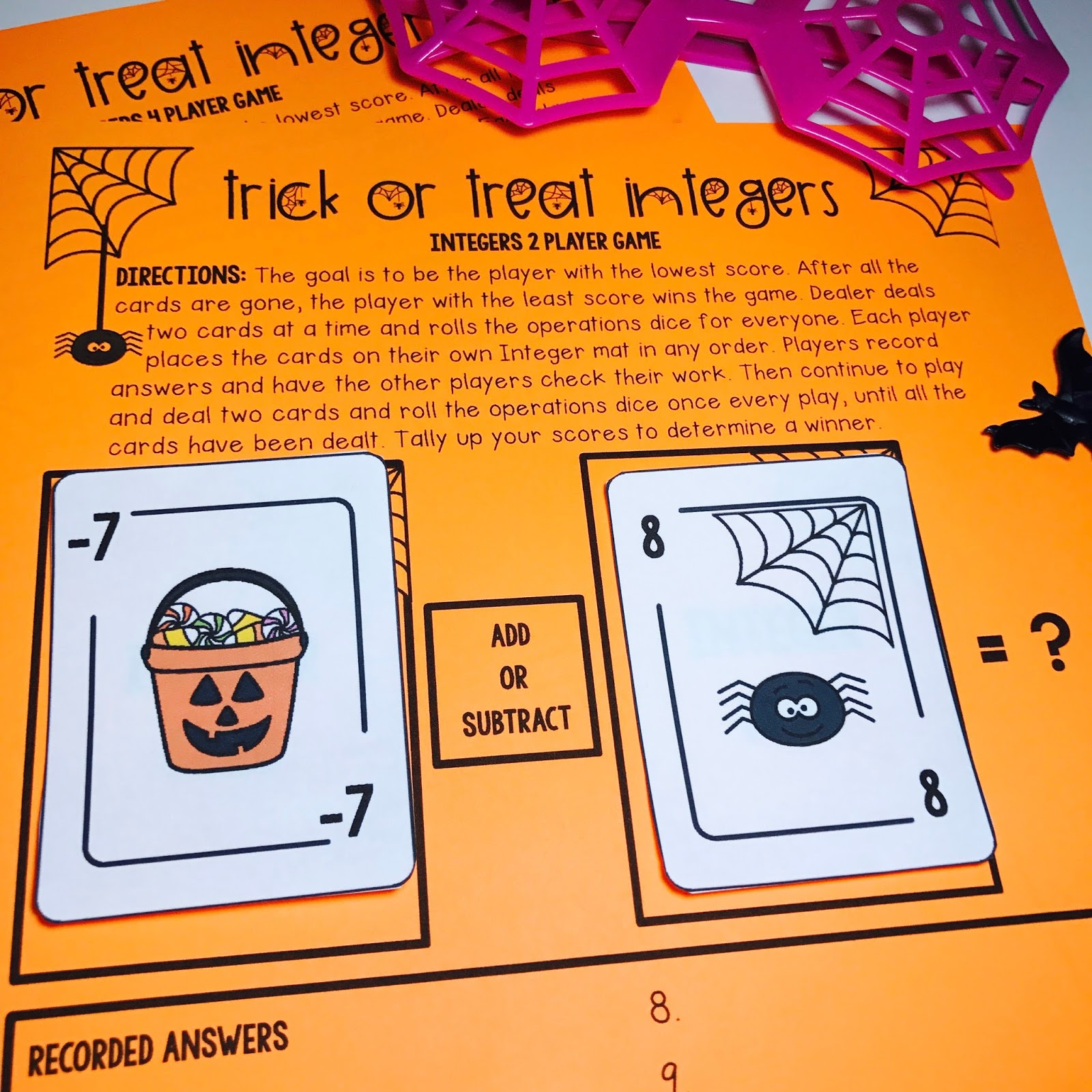 Kelly Mccown Halloween Middle School Math Activities Amp Games