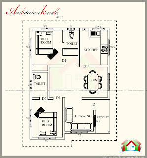 700 square feet kerala style house plan architecture kerala for 700 square feet house