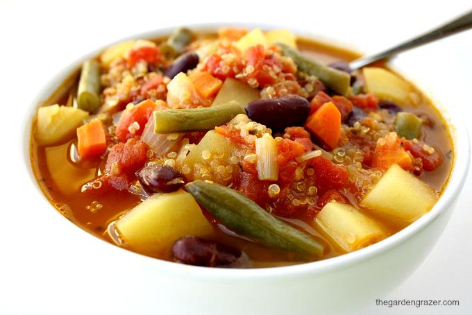 The Garden Grazer: Quinoa Minestrone Soup