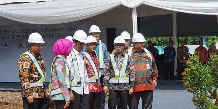 Presiden Jokowi telah meresmikan peletakan batu pertama pembangunan Rusunami Loftvilles di Tangerang Selatan