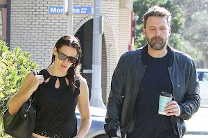 Saturday morning: Ben Affleck and Jennifer garner at a luncheon in Los Angeles