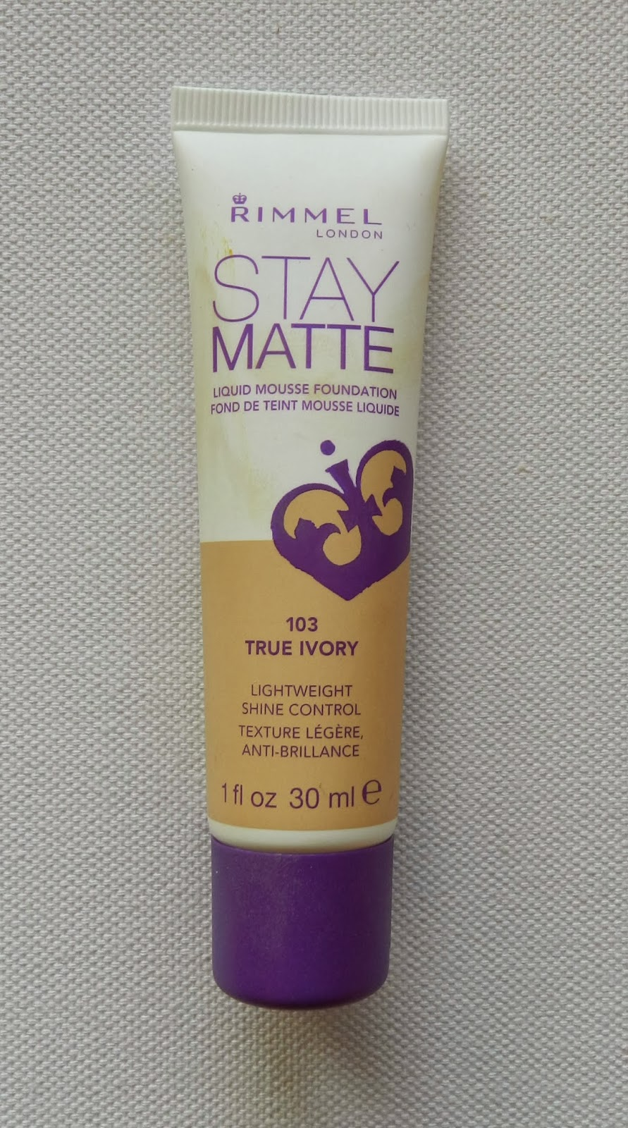 Unfade what fades: Rimmel Stay Matte foundation in #103 ...