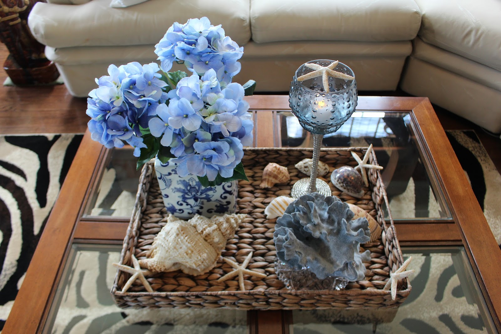 Designs by Pinky: Summer Coffee Table Vignette