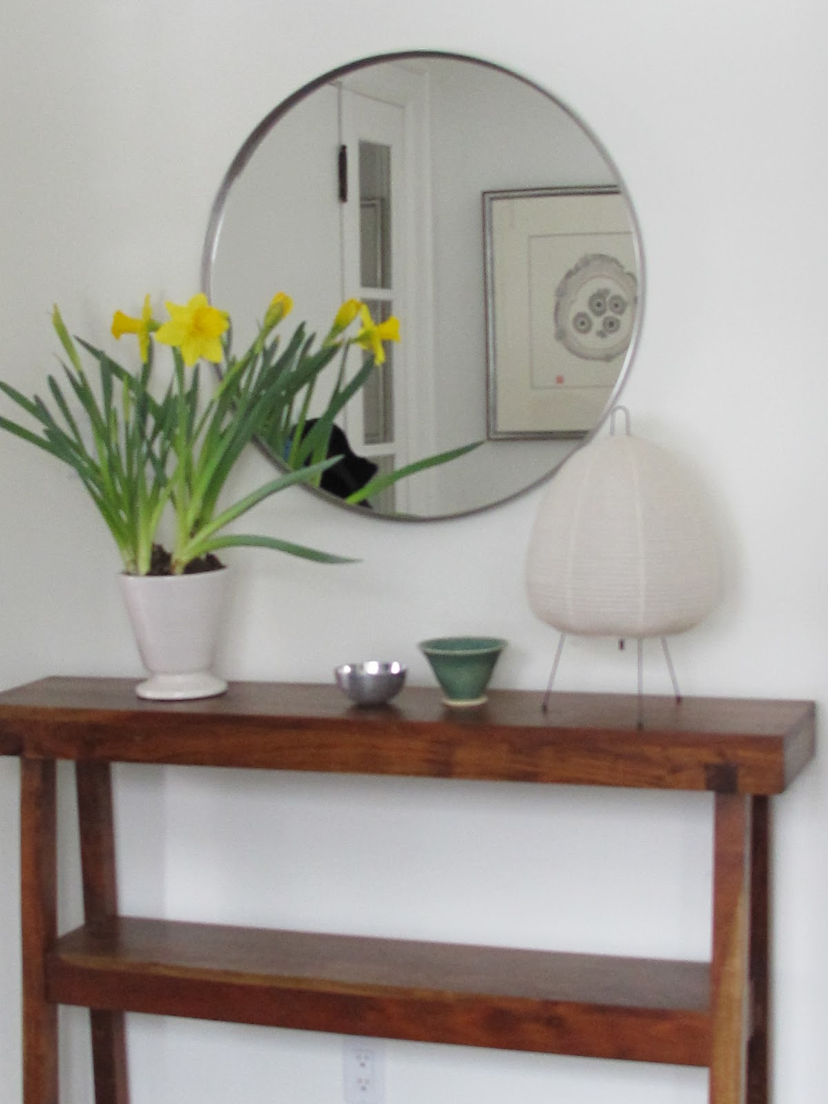 In My Own Entrance I Have Used West Elm S Rustic Acacia Table Which At Only 10 Deep Was A Perfect Fit For The Shallow Niche Just To Right Of