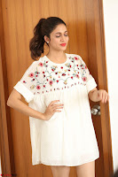 Lavanya Tripathi in Summer Style Spicy Short White Dress at her Interview  Exclusive 206.JPG