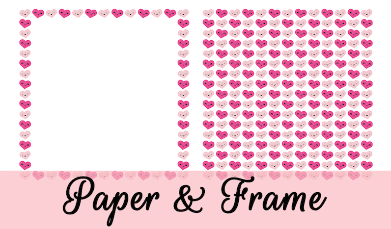 Free Kawaii Paper and Frame for Valentines by GradeONEderfulDesigns.com