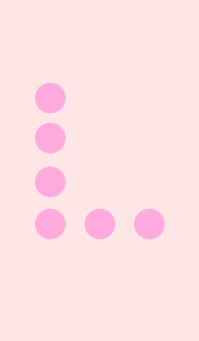 シンプルドット ピンク