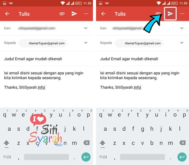 bagaimana cara mengirimkan email di hp android