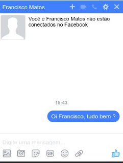 Digitar mensagem recado chat Feicebuque