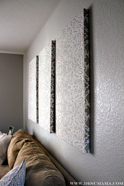 Fabric Wall Covering : Diy fabric wall panels de su mama