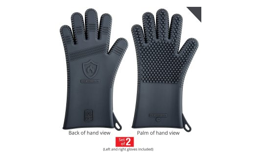Grill silicone gloves for men