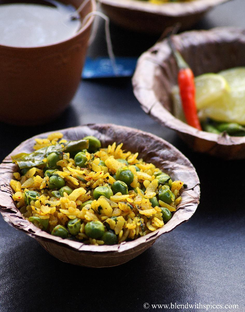 how to make chura matar, poha recipes, blendwithspices.com