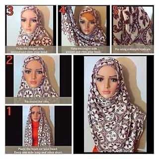 Contoh Cara Memakai Jilbab Segitiga