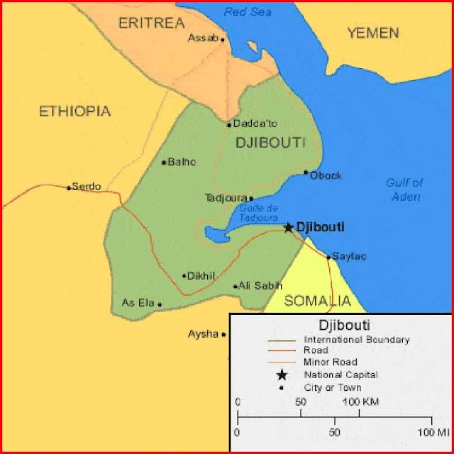Gambar Peta Djibouti