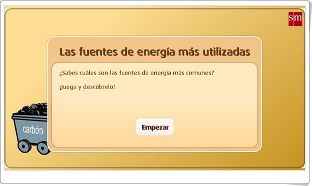 """""""Las fuentes de energía más utilizadas"""" (Librosvivos S.M.)"""