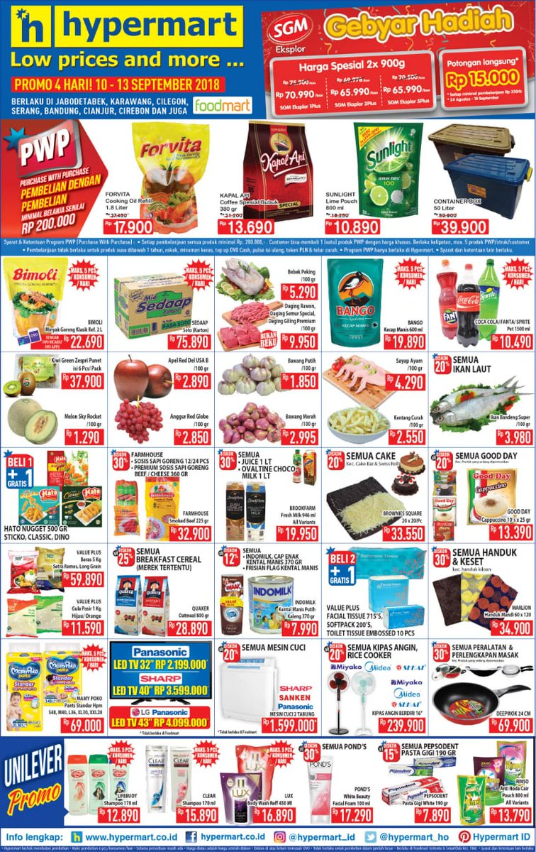 Hypermart - Katalog Promo Low Price and More Periode 10 - 13 Sept 2018