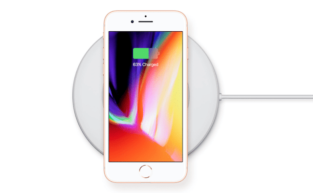 Compare speed wireless and wired charging iPhone 8 Plus