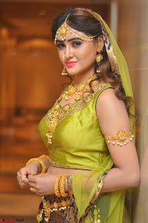 Sony Charishta in Green Choli Ghagra Transparent Chunni Ethnic Wear March 2017 027.JPG