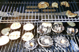 grilling veggies on gas grill