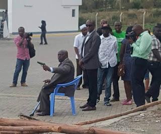 Paul Njoroge with Polycarp Igathe fight. PHOTO | Courtesy