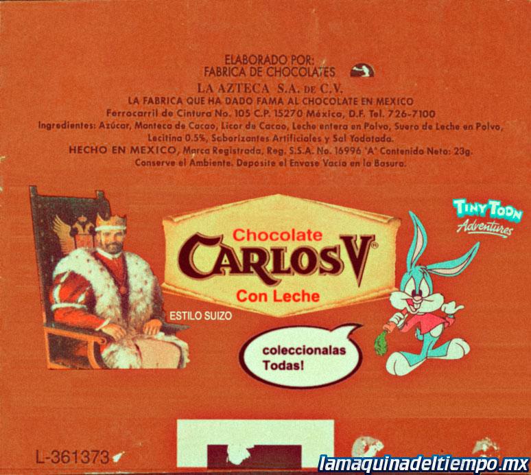 Carlos V Chocolate Bar Nutritional Information