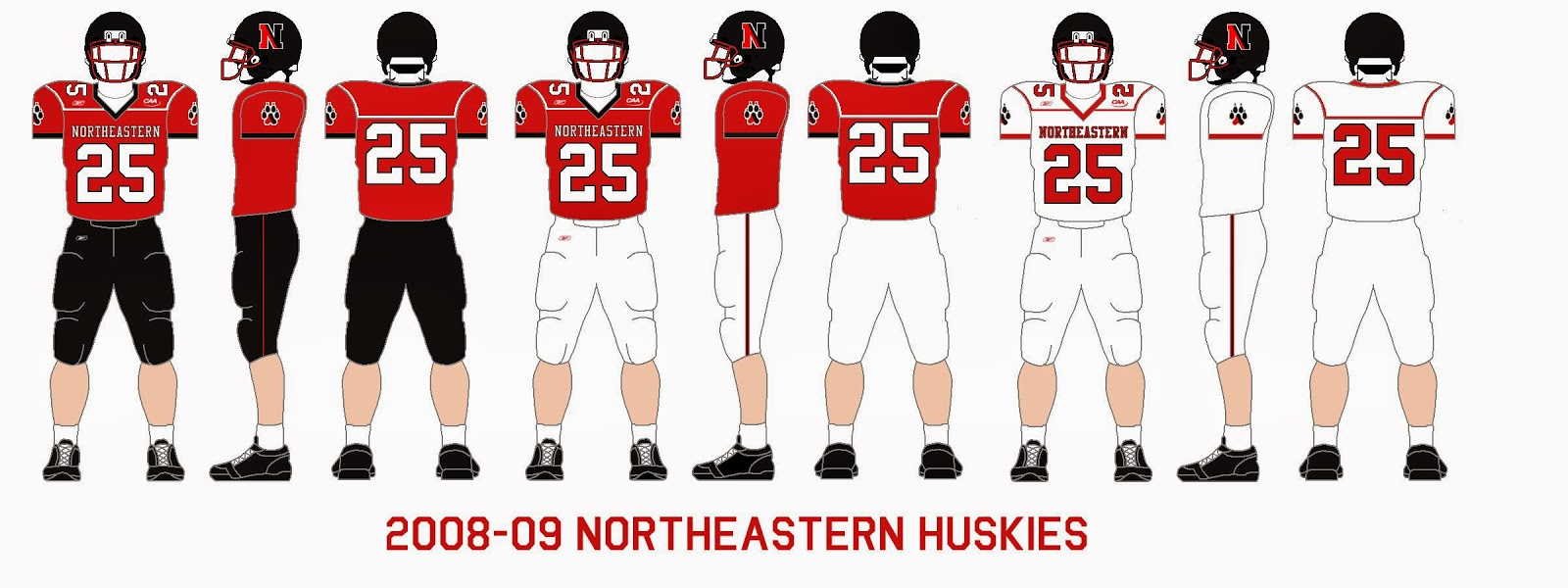 detailed look 49ca8 43d92 Gridiron Garb: Northeastern Huskies (2008-09, 1976-77)