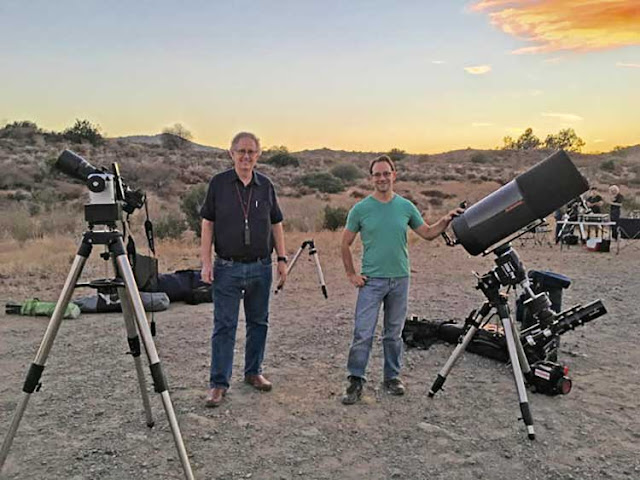 Palmia Observatory Resident Astronmer sets up scope at star party