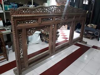 Jual Srono Jati Ukir Lawasan ukuran 3meter Tinggi 160cm