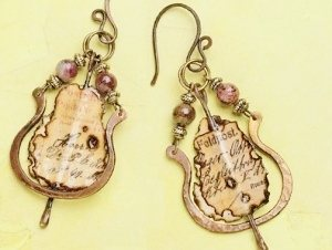 mixed media earrings tutorial