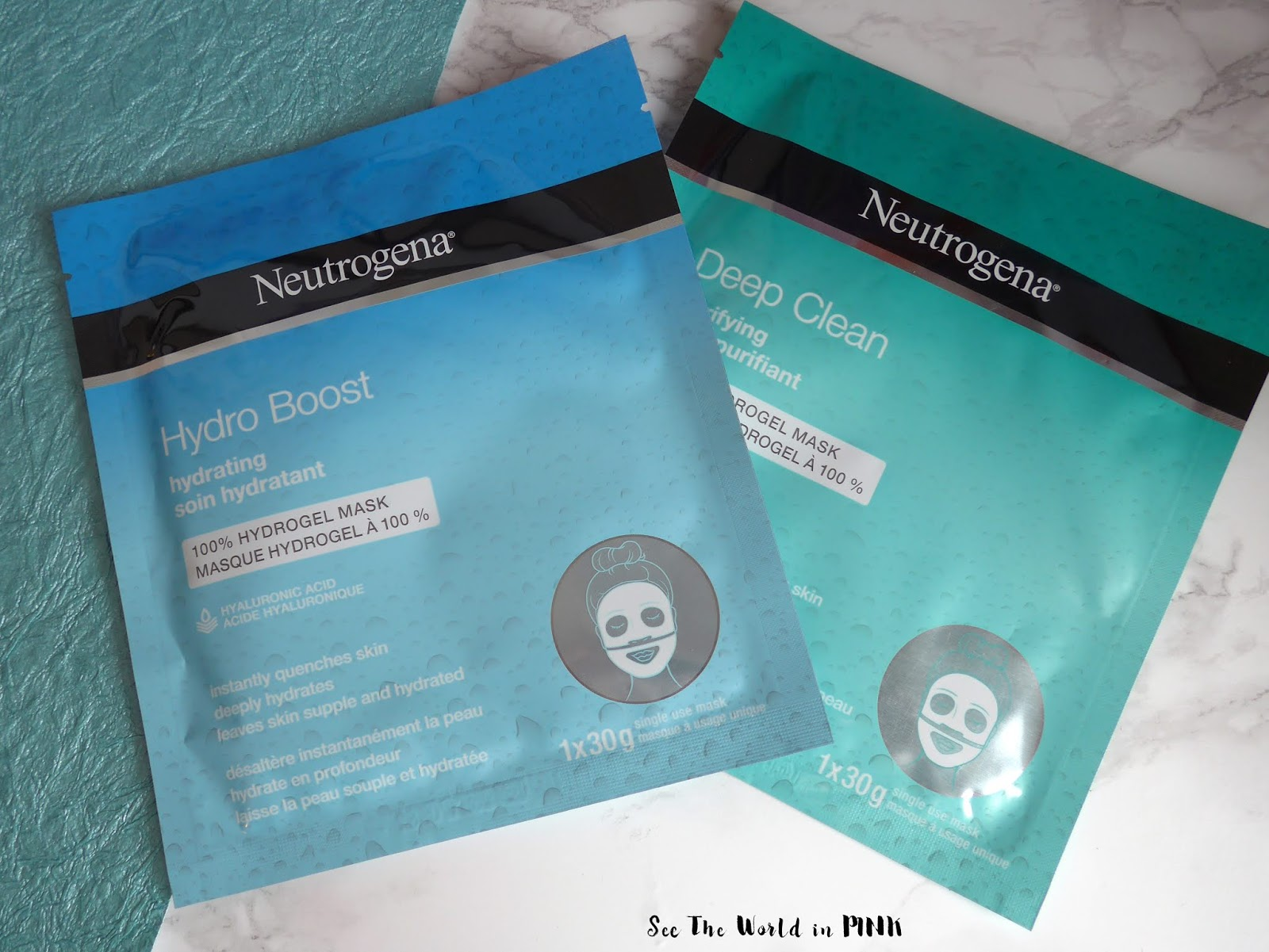 Neutrogena Hydrogel Masks - Hydro Boost Hydrating & Deep Clean Purifying!