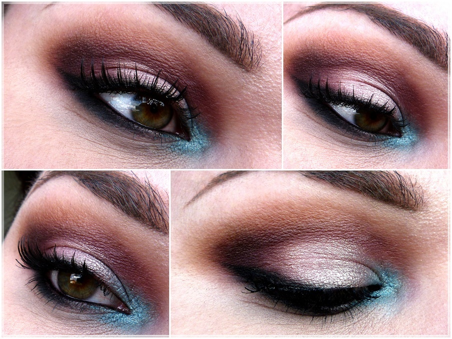 electric blue eye make up