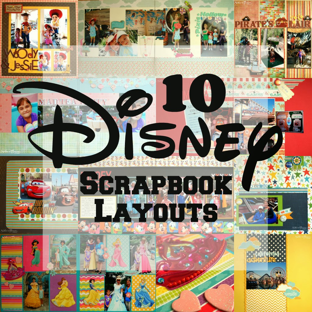 Silver Boxes: 10 Disney Scrapbook Layouts