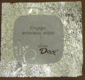 dove wrapper with sentiment