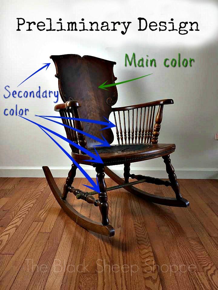 Preliminary design sketch of color scheme