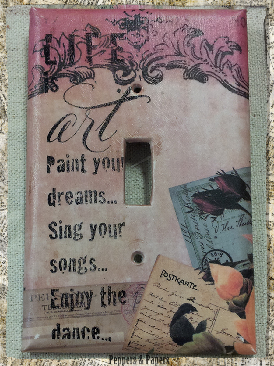 Decorative Light Switch Plates Peppers Papers March 2016