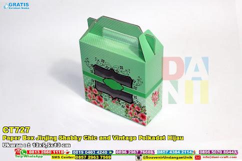 Paper Box Jinjing Shabby Chic And Vintage Polkadot Hijau