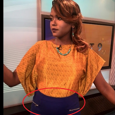 Citizn TV's Anne Kiguta Might Be Pregnant, Look At Her Bulging Stomach (Photo)