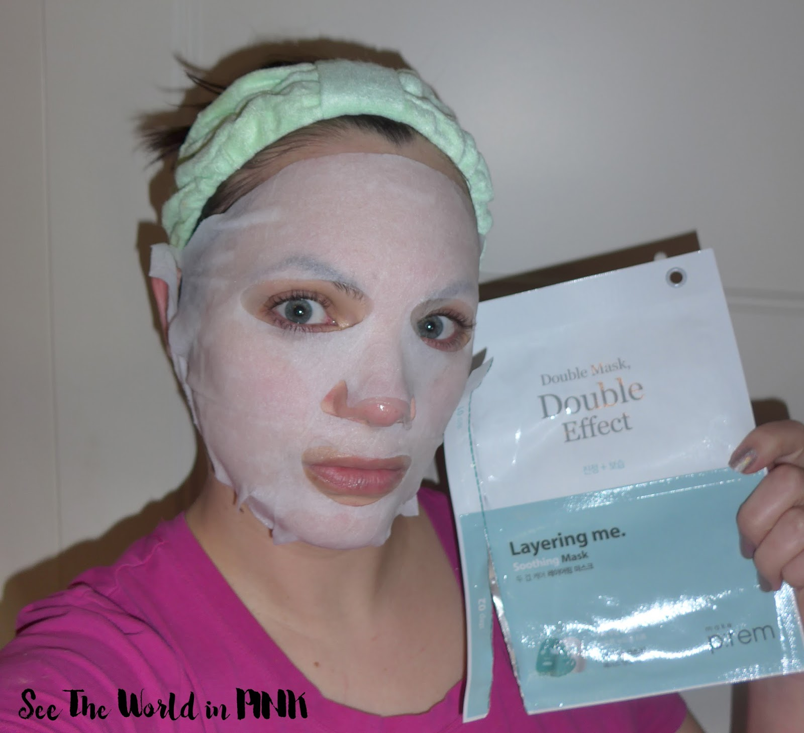 Mask Thursday - Make P:rem Double Mask Layering Me Soothing Mask