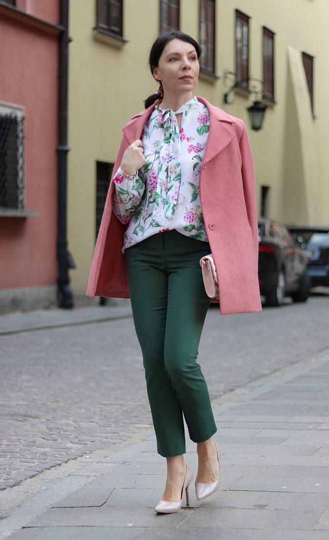 koszula damska w kwiaty stylizacje 2018