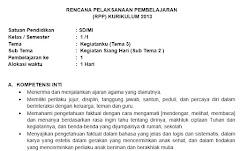 RPP Kelas 1 SD Semester 1 Kurikulum 2013 Revisi Tahun 2018