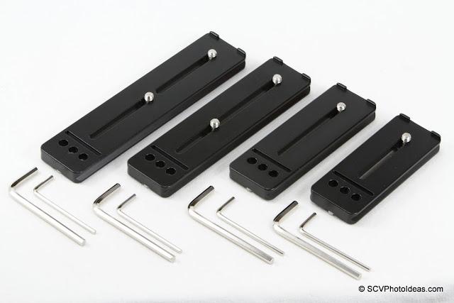 Desmond DLP-100 / 115 / 150 / 169 Lens Plates top view w/ tools