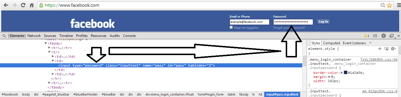 how to find out facebook password without resetting it