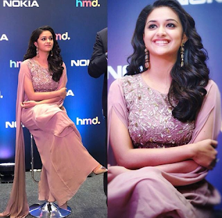 Keerthy Suresh at Nokia 7 Plus and Nokia 8 Sirocco Launch