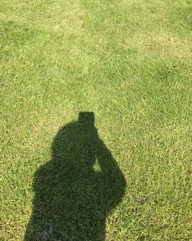 #MySundayPhoto-number-18-shadow-of-boy-with-phone-on-grass