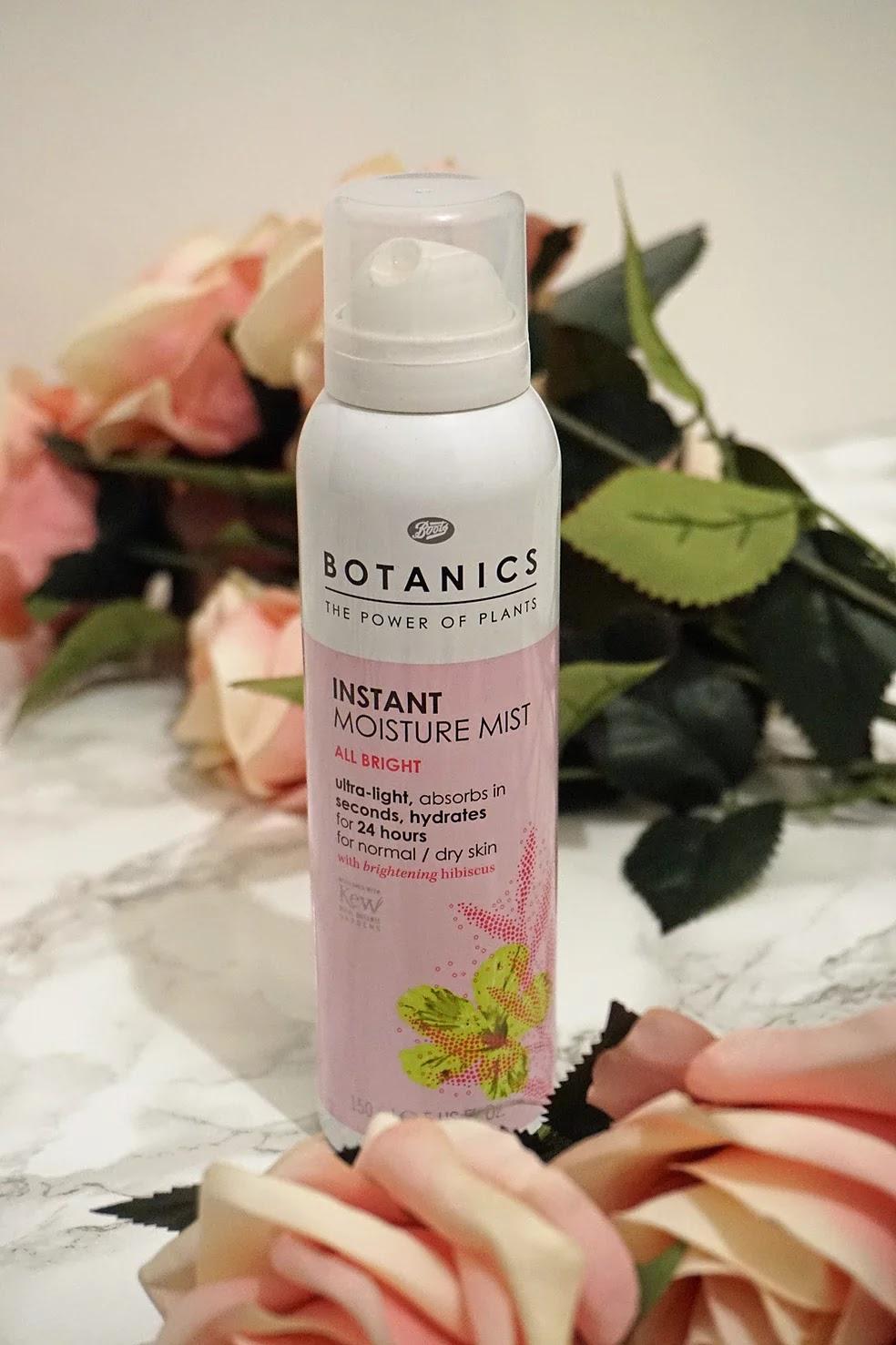 Boots botanics instant moisture mist