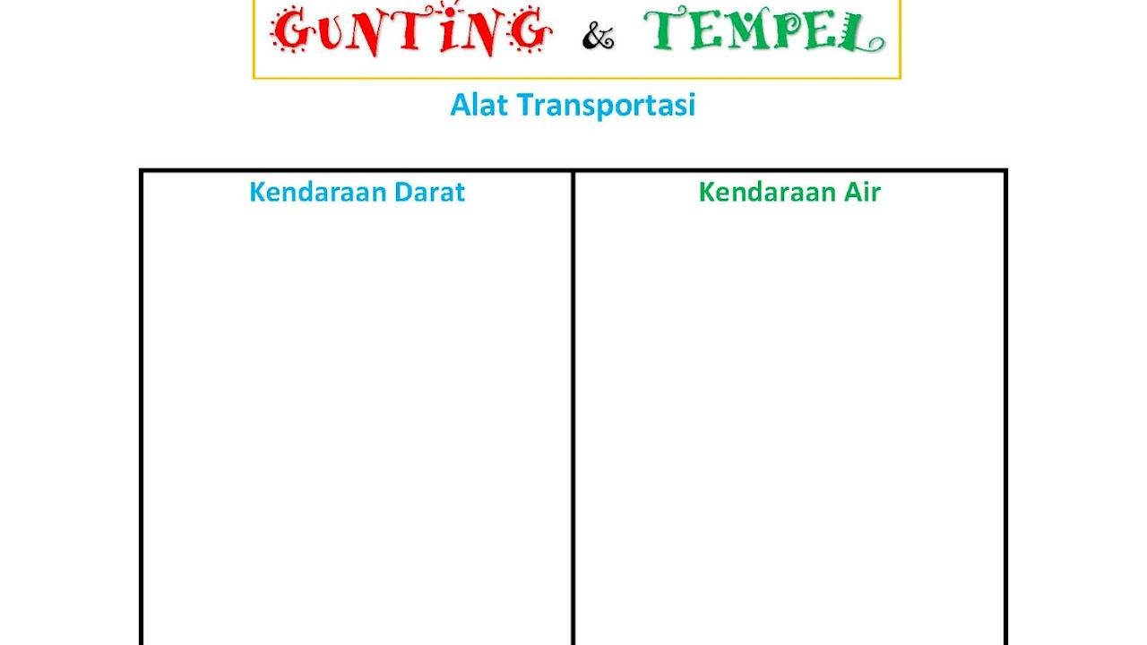 Gunting Tempel Alat Transportasi Kendaraan Air Vs Kendaraan